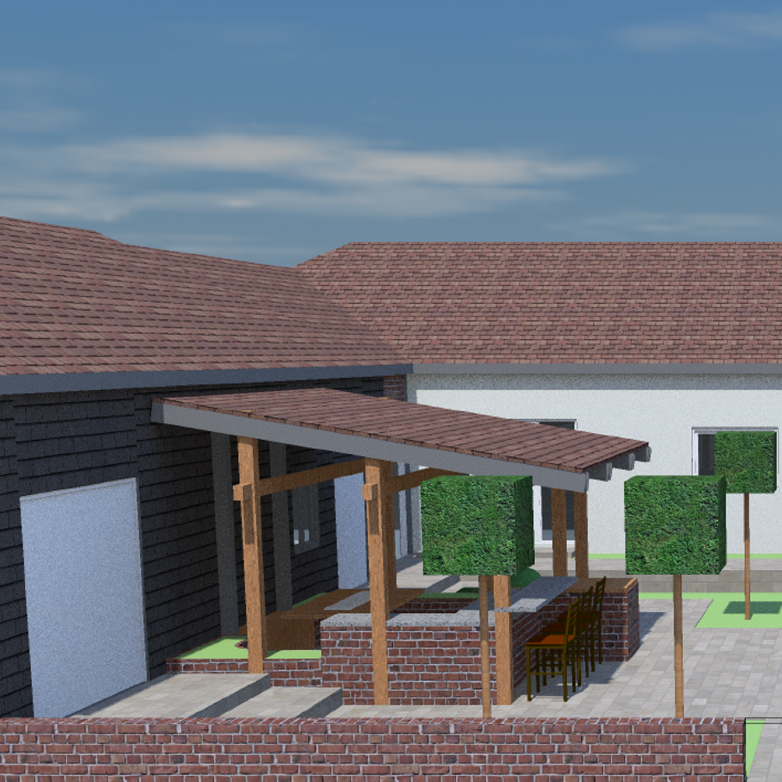 Bennell Farm Perspective Views Lounge and Courtyard Areas Rev 1