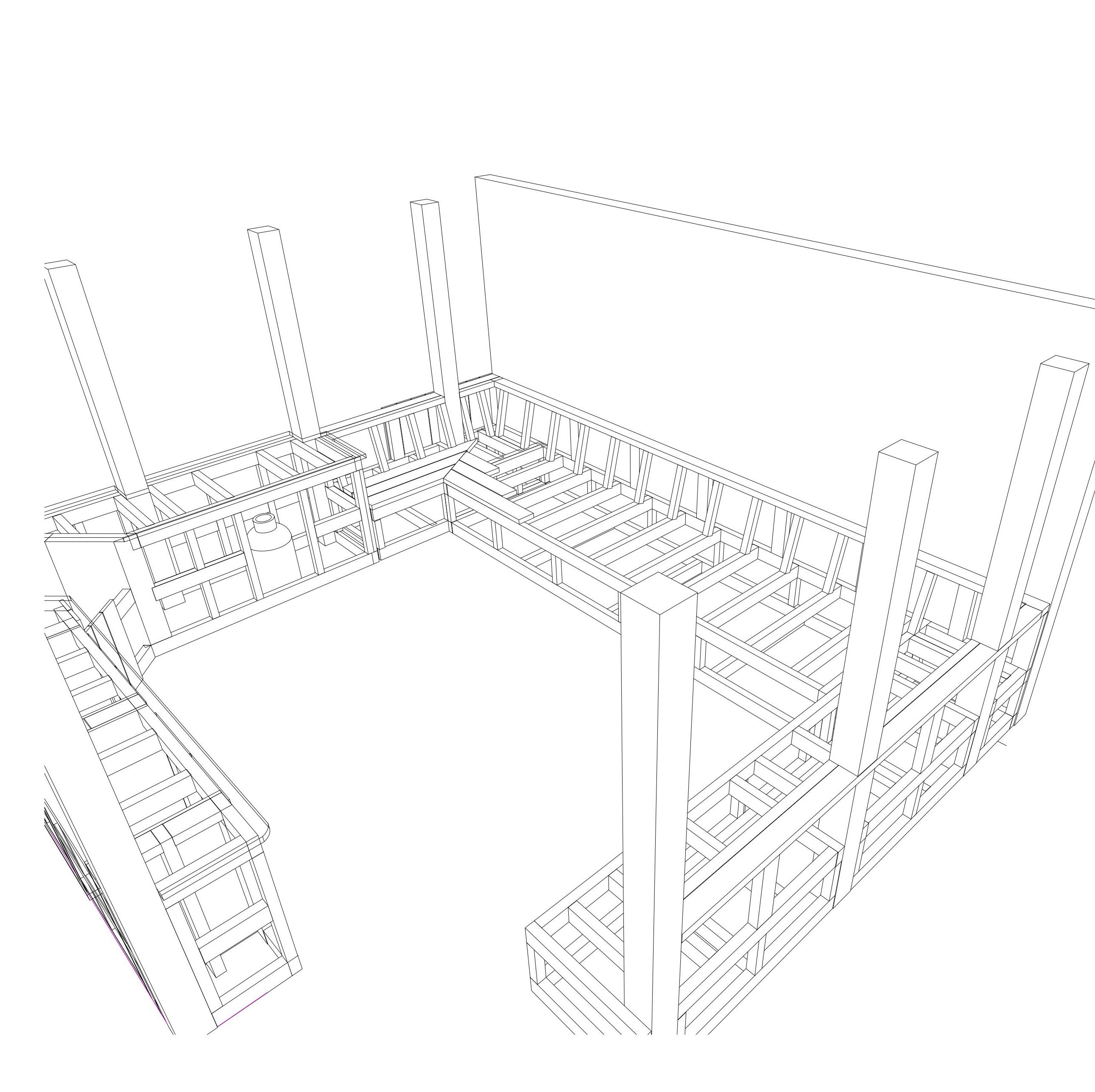 Outdoor Kitchen construction drawing