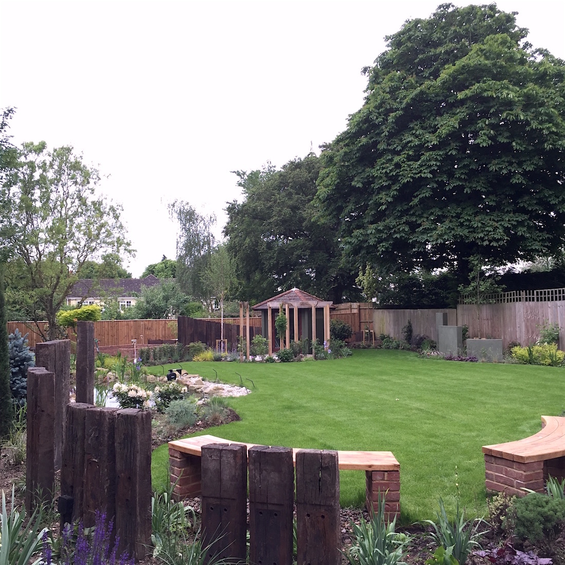 Loxley Reclaimed Sleepers and Oak benches