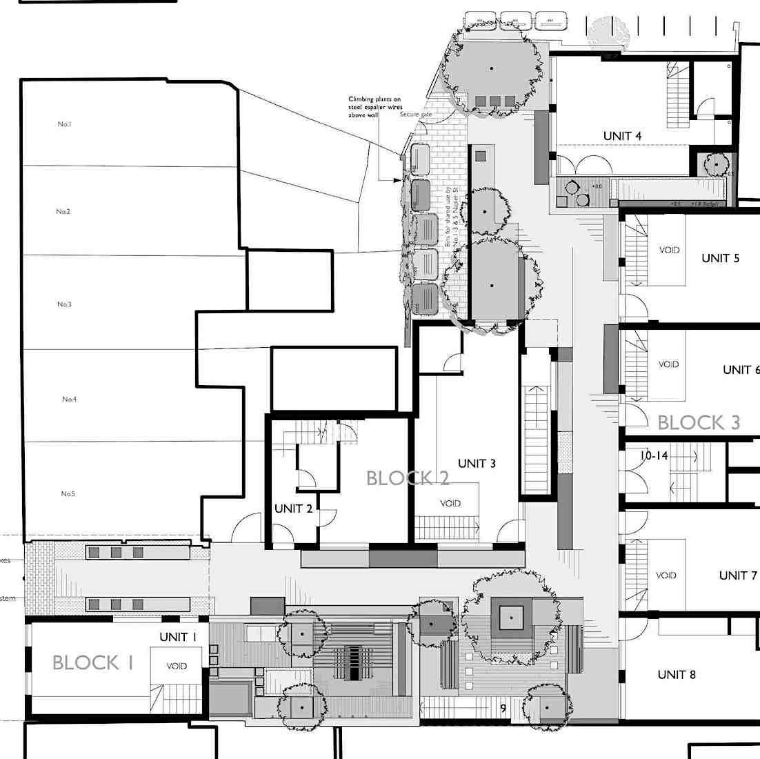 Tristen Knight Garden Design Napier Street Communal Area