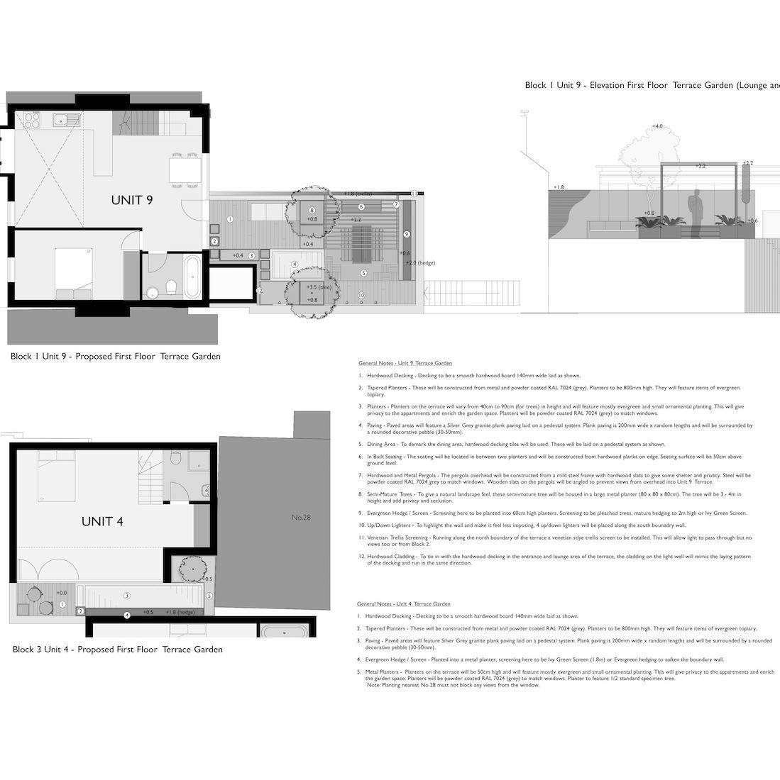 Tristen Knight Garden Design Napier Street Proposed Landscape Plans image 2