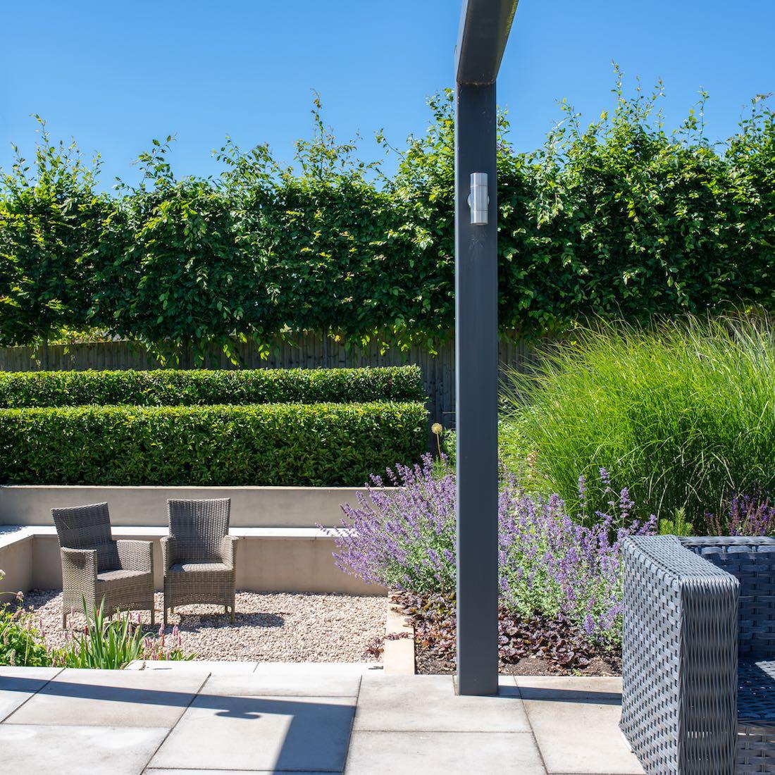 Contemporary Family Garden, 35 Bourn Caxton, Sunken Garden